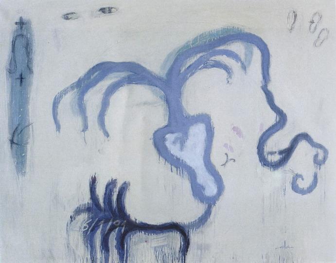 1135 | Dos adolescents que s'estimen, Sarajevo, 1994 | Oli i grafit sobre tela, 114 x 146 cm