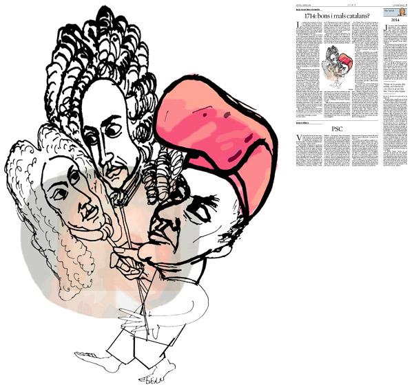 Jordi Barba, Barcelona, Catalunya, Espanya, Artista, pintor, il·lustrador, dissenyador gràfic. Il·lustració per a La Vanguardia 02/01/2014