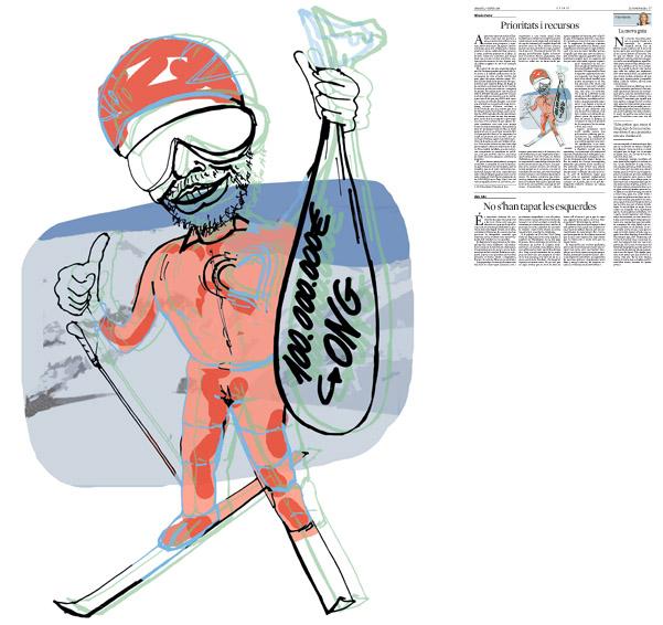 Jordi Barba, Barcelona, Catalunya, Espanya, Artista, pintor, il·lustrador, dissenyador gràfic. Il·lustració per a La Vanguardia 07/01/2014