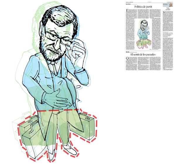 Jordi Barba, Barcelona, Catalunya, Espanya, Artista, pintor, il·lustrador, dissenyador gràfic. Il·lustració per a La Vanguardia 14/01/2014