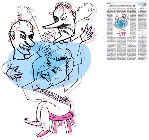 Jordi Barba, Barcelona, Catalunya, Espanya, Artista, pintor, il·lustrador, dissenyador gràfic. Il·lustració per a La Vanguardia 17/01/2014