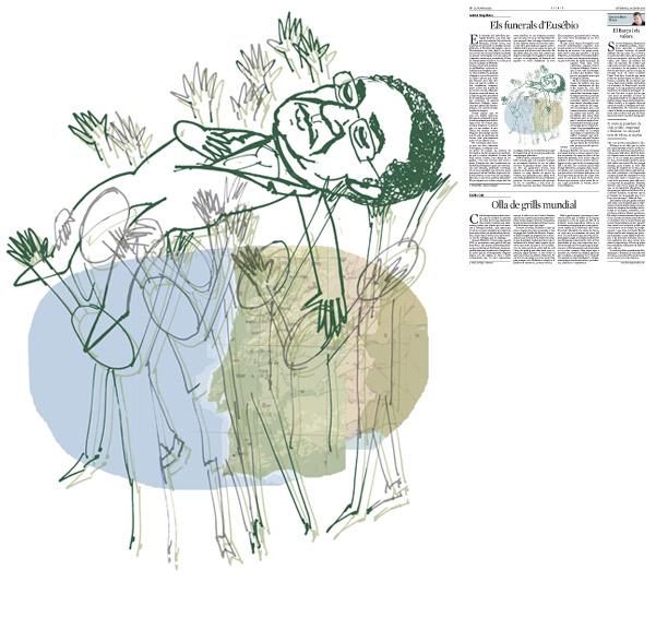 Jordi Barba, Barcelona, Catalunya, Espanya, Artista, pintor, il·lustrador, dissenyador gràfic. Il·lustració per a La Vanguardia 24/01/2014