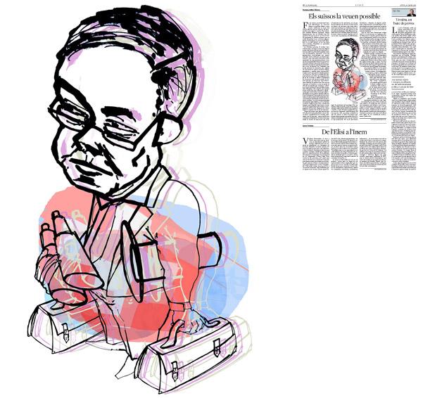 Jordi Barba, Barcelona, Catalunya, Espanya, Artista, pintor, il·lustrador, dissenyador gràfic. Il·lustració per a La Vanguardia 30/01/2014