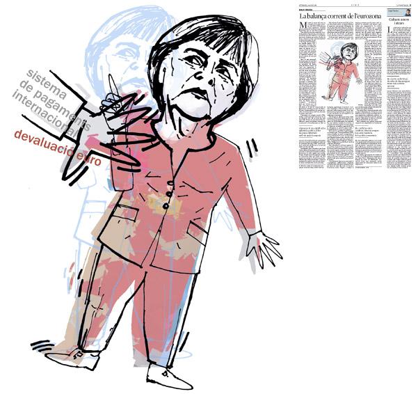 Jordi Barba, ilustración publicada en La Vanguardia, sección de Opinión 8-08-2014 para el artículo de Robert Skidelsky