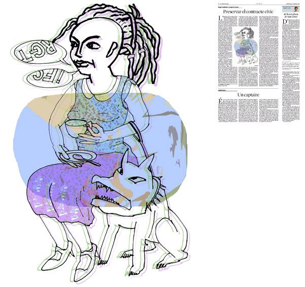 Jordi Barba, Barcelona, Cataluña, España, Artista, pintor, ilustrador, diseñador gráfico. Ilustración para La Vanguardia 12/02/2014