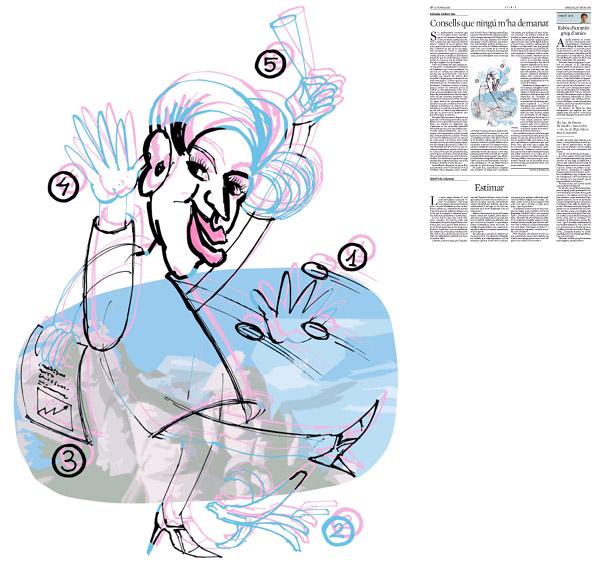 Jordi Barba, Barcelona, Cataluña, España, Artista, pintor, ilustrador, diseñador gráfico. Ilustración para La Vanguardia 19/02/2014