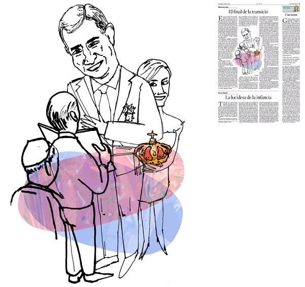 Il·lustració de Jordi Barba  publicada a La Vanguardia, secció d'Opinió 8-03-2014 per a l'article de Alberto Aza Arias