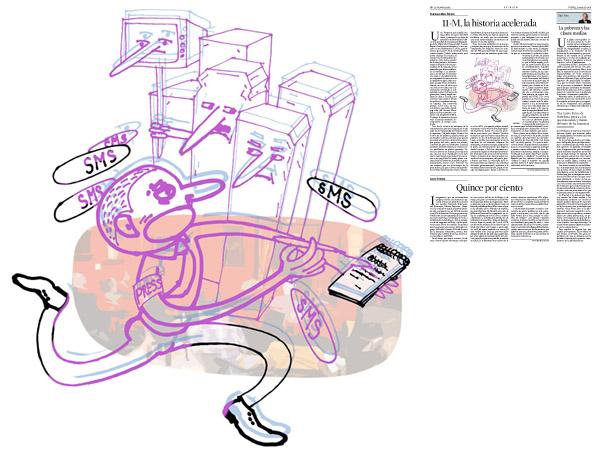 Il·lustració de Jordi Barba  publicada a La Vanguardia, secció d'Opinió 13-03-2014 per a l'article de Francesc-Marc Álvaro