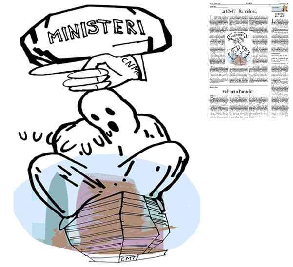 Il·lustració de Jordi Barba  publicada a La Vanguardia, secció d'Opinió 20-03-2014 per a l'article de Xavier Vives