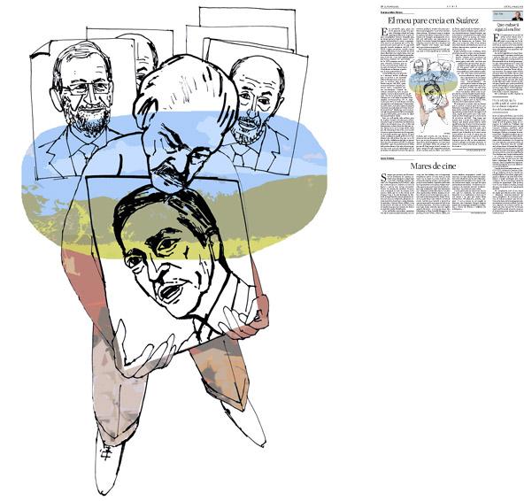 Il·lustració de Jordi Barba  publicada a La Vanguardia, secció d'Opinió 27-03-2014 per a l'article de Francesc-Marc Álvaro