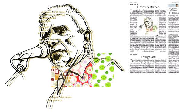 Il·lustració de Jordi Barba  publicada a La Vanguardia, secció d'Opinió 2-04-2014 per a l'article de Salvador Cardús i Ros