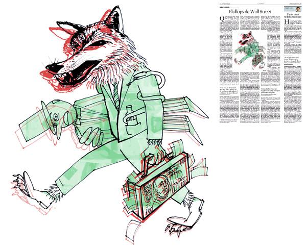 Ilustración publicada en La Vanguardia, sección de Opinión 9-04-2014 para el artículo de Robert Skidelsky