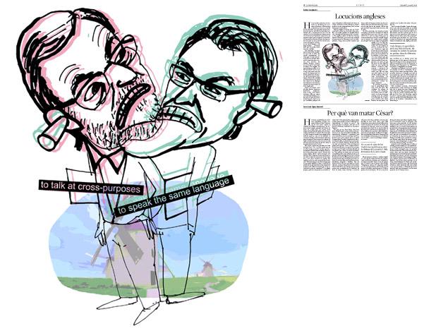 Ilustración publicada en La Vanguardia, sección de Opinión 12-04-2014 para el artículo de Carles Casajuana