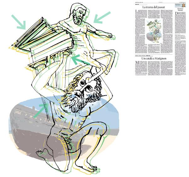Ilustración publicada en La Vanguardia, sección de Opinión 16-04-2014 para el artículo de Lluís Foix
