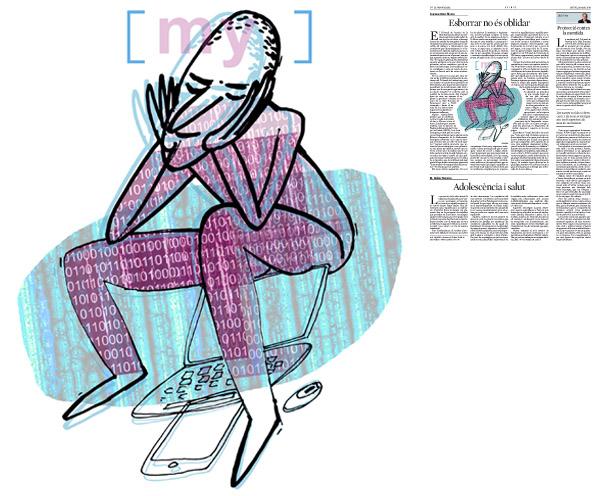 Il·lustració publicada a La Vanguardia, secció d'Opinió 15-05-2014 per a l'article de Francesc-Marc Álvaro