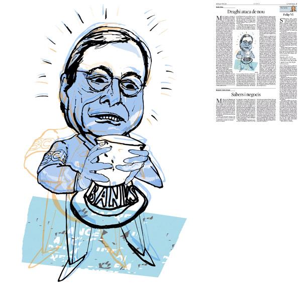 Il·lustració publicada a La Vanguardia, secció d'Opinió 19-06-2014 per a l'article de Xavier Vives