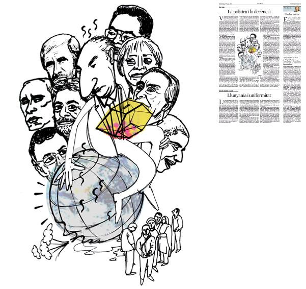 Publicada en La Vanguardia, sección de Opinión 9-07-2014 para el artículo de Lluís Foix