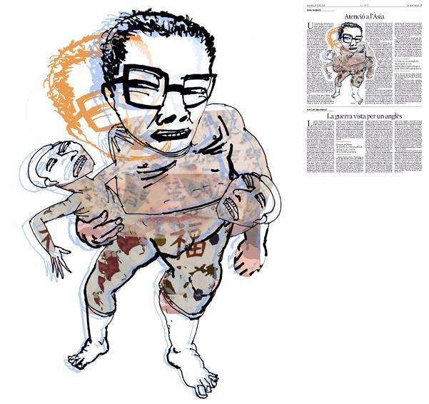Jordi Barba, il·lustració publicada a La Vanguardia, secció d'Opinió 19-07-2014 per a l'article de Carles Casajuana