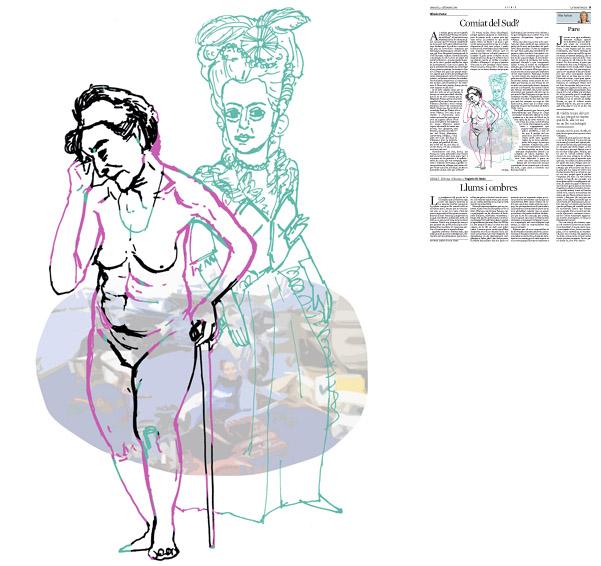 Jordi Barba, ilustración publicada en La Vanguardia, sección de Opinión 2-09-2014 para el artículo de Alfredo Pastor