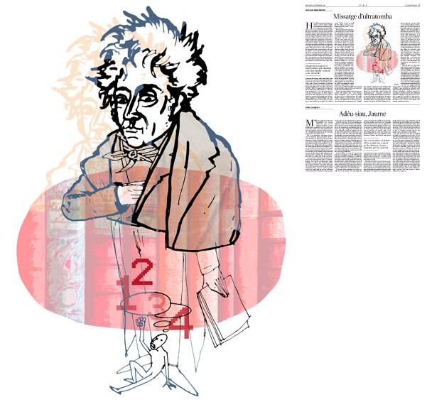 Jordi Barba, ilustración publicada en La Vanguardia, sección de Opinión 6-09-2014, para el artículo de Juan-José López Burniol