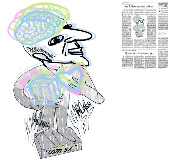 Jordi Barba, ilustración publicada en La Vanguardia, sección de Opinión 2-10-2014, para el artículo de Francesc-Marc Álvaro