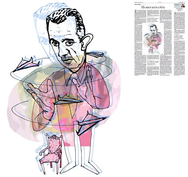 Jordi Barba, il·lustració publicada a La Vanguardia, secció d'Opinió 6-10-2014, per a l'article de Fawaz A. Gerges