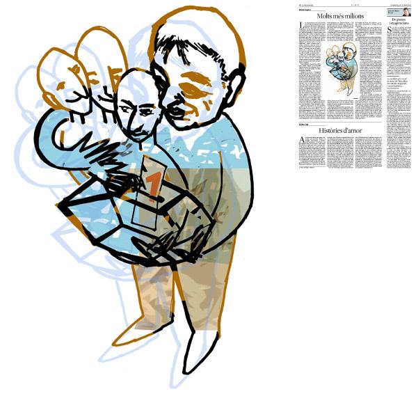 Jordi Barba, il·lustració publicada a La Vanguardia, secció d'Opinió 10-10-2014, per a l'article de Ramon Espasa