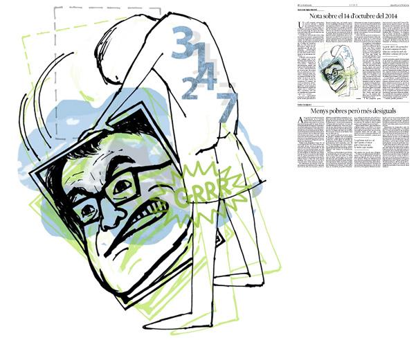 Jordi Barba, il·lustració publicada a La Vanguardia, secció d'Opinió 18-10-2014, per l'article de Juan-José López Burniol