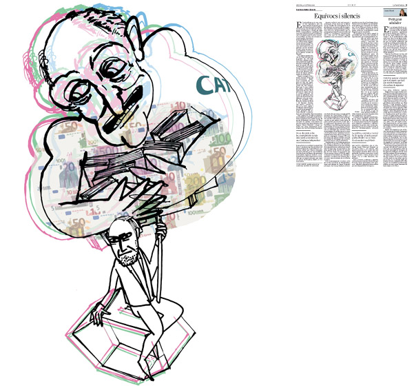 Jordi Barba, il·lustració publicada a La Vanguardia, secció d'Opinió 27-10-2014, per l'article de Francisco Rubio Llorente