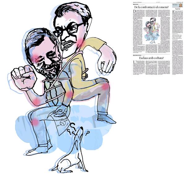 Jordi Barba, il·lustració publicada a La Vanguardia, secció d'Opinió 28-10-2014, per l'article d'Alfredo Pastor