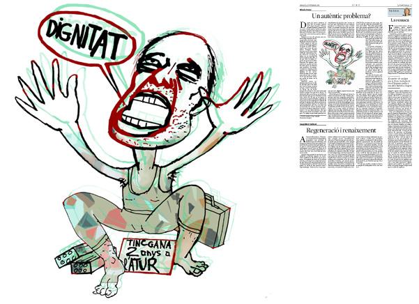 Jordi Barba, il·lustració publicada a La Vanguardia, secció d'Opinió 11-11-2014, per l'article d'Alfredo Pastor