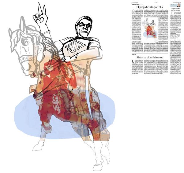 Jordi Barba, il·lustració publicada a La Vanguardia, secció d'Opinió 13-11-2014, per l'article de Francesc-Marc Álvaro