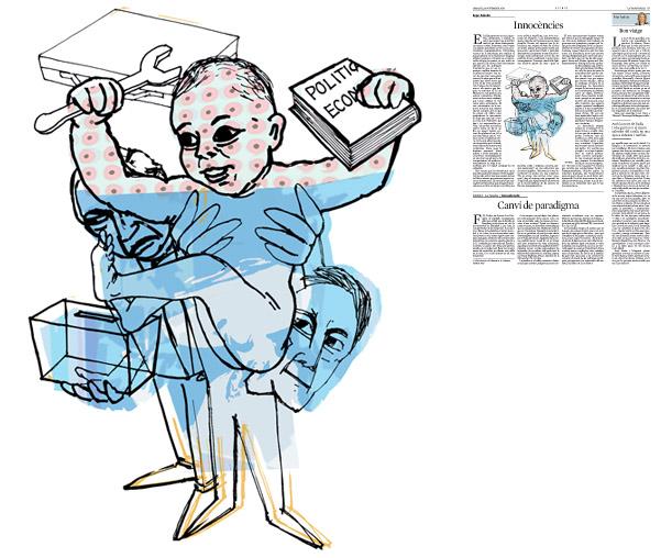 Jordi Barba, il·lustració publicada a La Vanguardia, secció d'Opinió 18-11-2014, per l'article de Kepa Aulestia