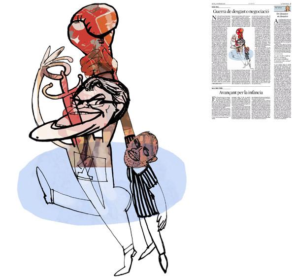 Jordi Barba, il·lustració publicada a La Vanguardia, secció d'Opinió 20-11-2014, per l'article de Xavier Vives