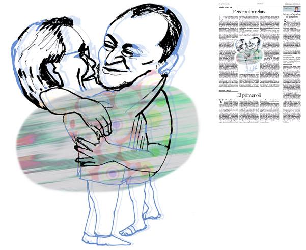 Jordi Barba, il·lustració publicada a La Vanguardia, secció d'Opinió 26-11-2014, per l'article de Salvador Cardús i Ros