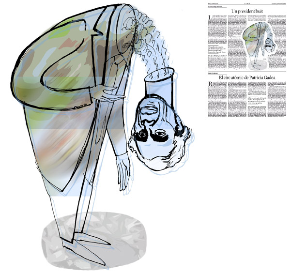 Jordi Barba, il·lustració publicada a La Vanguardia, secció d'Opinió 29-11-2014, per l'article de Juan-José López Burniol
