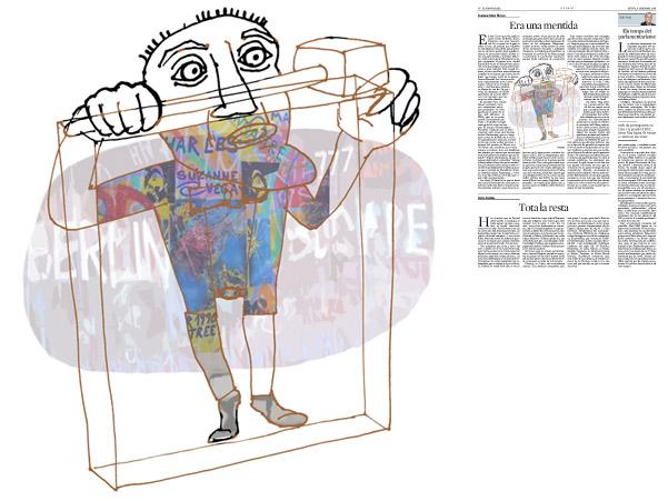 Jordi Barba, il·lustració publicada a La Vanguardia, secció d'Opinió 4-12-2014, per l'article de Francesc-Marc Álvaro
