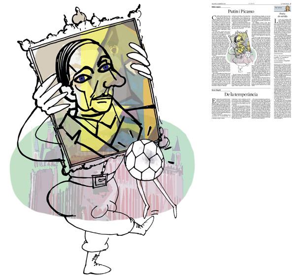 Jordi Barba, il·lustració publicada a La Vanguardia, secció d'Opinió 6-12-2014, per l'article de Walter Laqueur
