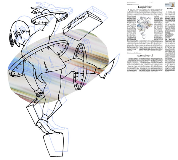 Jordi Barba, il·lustració publicada a La Vanguardia, secció d'Opinió 9-12-2014, per l'article de Alfredo Pastor