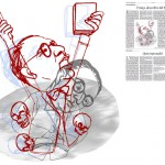 Jordi Barba, il·lustració publicada a La Vanguardia, secció d'Opinió 13-12-2014, per l'article de Juan-José López Burniol
