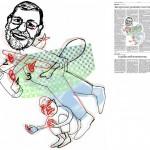 Jordi Barba, il·lustració publicada a La Vanguardia, secció d'Opinió 17-12-2014, per l'article de Antón Costas