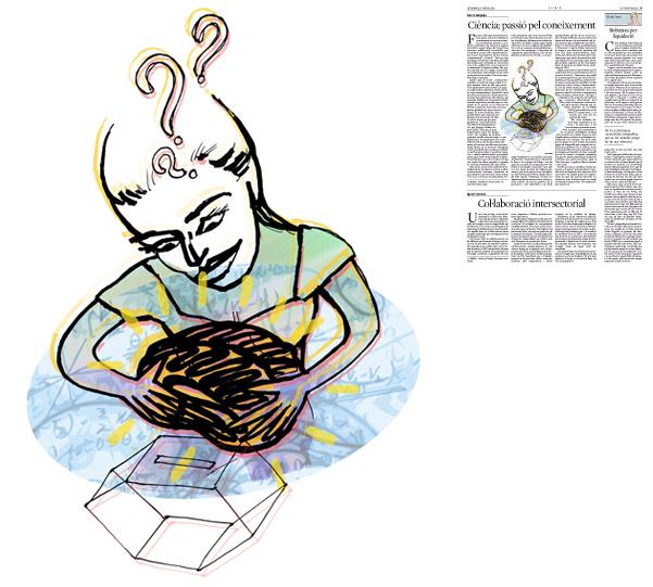 Jordi Barba, il·lustració publicada a La Vanguardia, secció d'Opinió 4-01-2015, per l'article de Ferran Requejo