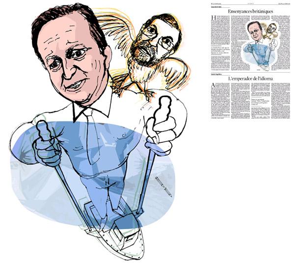 Jordi Barba, il·lustració publicada a La Vanguardia, secció d'Opinió 11-01-2015, per l'article de Josep Vicent Boira