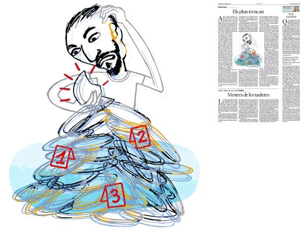 Jordi Barba, il·lustració publicada a La Vanguardia, secció d'Opinió 20-01-2015, per l'article d'Alfredo Pastor