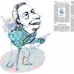 Jordi Barba, il·lustració publicada a La Vanguardia, secció d'Opinió 22-01-2015, per l'article de Xavier Vives