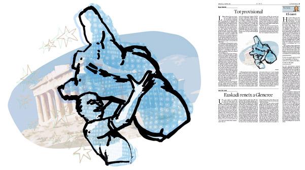 Jordi Barba, il·lustració publicada a La Vanguardia, secció d'Opinió 27-01-2015, per l'article de Kepa Aulestia