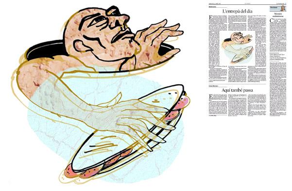 Jordi Barba, il·lustració publicada a La Vanguardia, secció d'Opinió 22-04-2015, per l'article d'Antón Costas