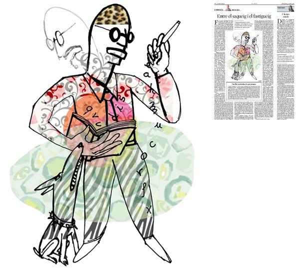 Jordi Barba, il·lustració publicada a La Vanguardia, secció d'Opinió 26-04-2015, per l'article de Julià de Jòdar