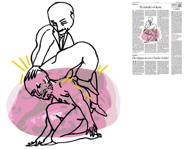Jordi Barba, il·lustració publicada a La Vanguardia, secció d'Opinió 3-02-2015, per l'article d'Alfredo Pastor