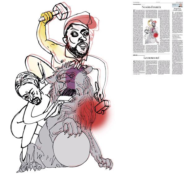 Jordi Barba, il·lustració publicada a La Vanguardia, secció d'Opinió 5-02-2015, per l'article de Francesc-Marc Álvaro